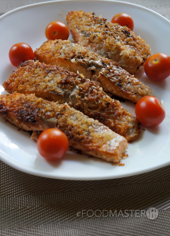Salmon with Panko bread crumbs and coconut